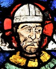 Thomas Becket stained glass in Canterbury Cathedral