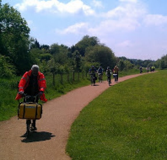 National Cycle Route 18 through Wye