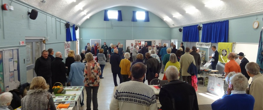 Residents gathered to celebrate launch day of the much improved facilities at Wye Village Hall