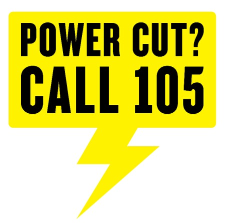 Power cut? call 105 for support