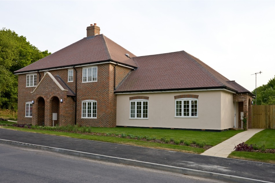 Three of the seven high quality local needs houses built in Godmersham