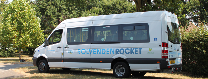 The Rolvenden Rocket is a 16 seater minibus managed by Rolvenden Parish Council. The Wye Flyer project aims to operate two similar vehicles based in Wye.